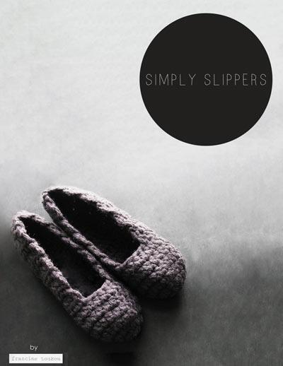 SIMPLY SLIPPERS,slipper pattern,crochet slipper pattern