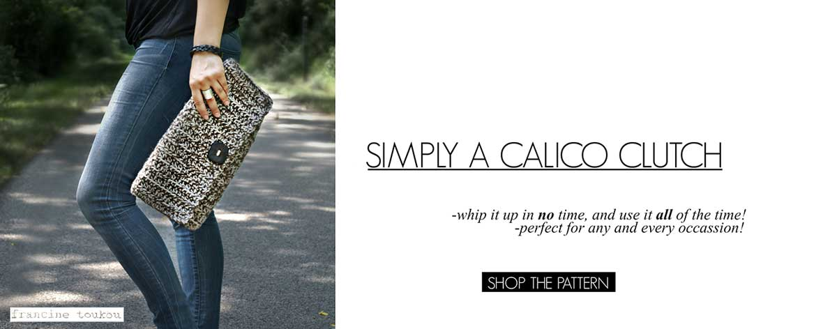 http://www.francinetoukou.com/product/simply-a-calico-clutch/